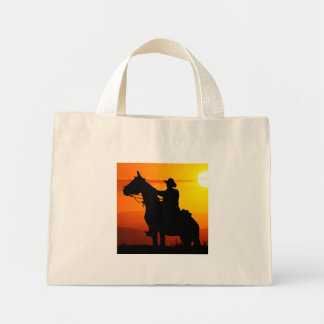 Sunset cowboy-Cowboy-sunshine-western-country Mini Tote Bag