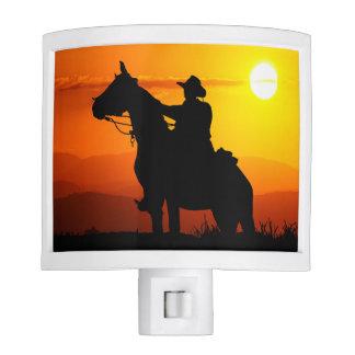 Sunset cowboy-Cowboy-sunshine-western-country Night Lites