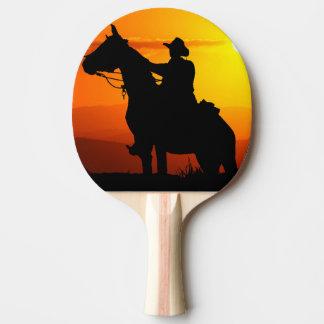Sunset cowboy-Cowboy-sunshine-western-country Ping Pong Paddle