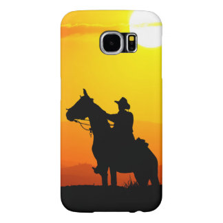 Sunset cowboy-Cowboy-sunshine-western-country Samsung Galaxy S6 Cases
