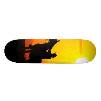 Sunset cowboy-Cowboy-sunshine-western-country Skateboard