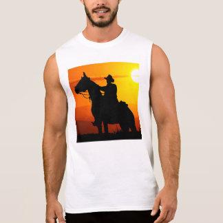 Sunset cowboy-Cowboy-sunshine-western-country Sleeveless Shirt