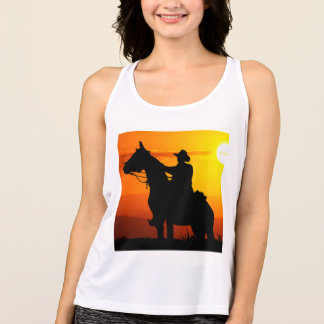 Sunset cowboy-Cowboy-sunshine-western-country Tank Top