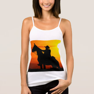 Sunset cowboy-Cowboy-sunshine-western-country Tank Top