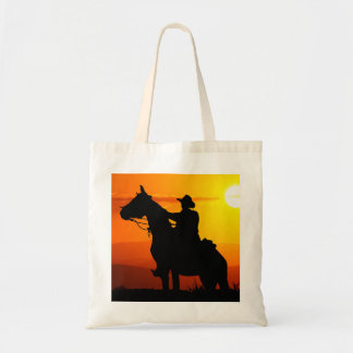 Sunset cowboy-Cowboy-sunshine-western-country Tote Bag