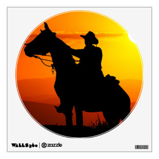 Sunset cowboy-Cowboy-sunshine-western-country Wall Decal