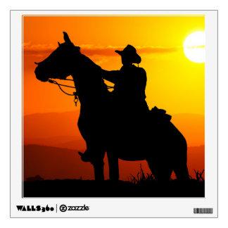 Sunset cowboy-Cowboy-sunshine-western-country Wall Sticker