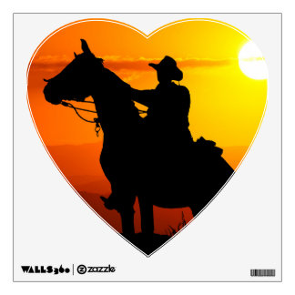 Sunset cowboy-Cowboy-sunshine-western-country Wall Sticker