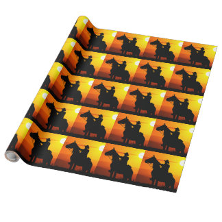 Sunset cowboy-Cowboy-sunshine-western-country Wrapping Paper