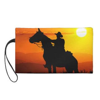 Sunset cowboy-Cowboy-sunshine-western-country Wristlet