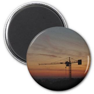 Sunset Crane Magnet