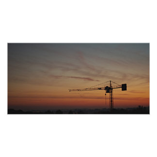 Sunset Crane Photocard Picture Card