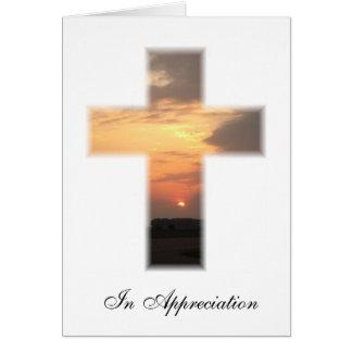 Sunset cross Thank you Card
