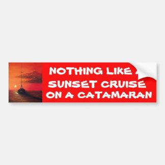 Sunset Cruise on a  Catamaran Bumper Sticker