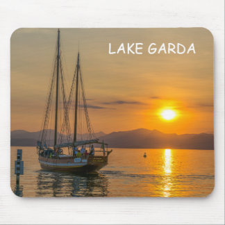Sunset cruise on Lake Garda mousepad
