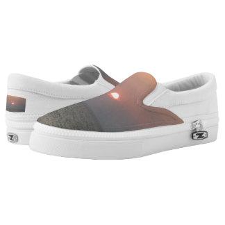 Sunset Custom Zipz Slip On Shoes,  Men & Women