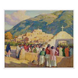 Sunset Dance - Ceremony to the Evening Sun Poster