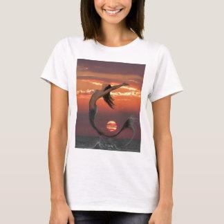 Sunset Dance Mermaid Art T-Shirt
