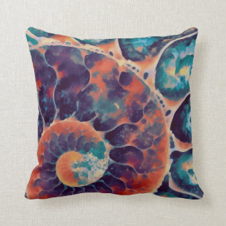 sunset daze nautilus throw pillow