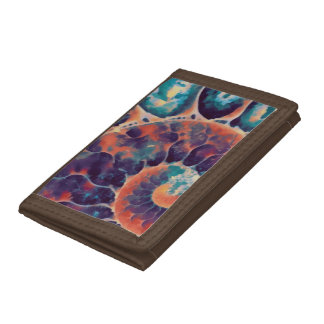 sunset daze nautilus tri-fold wallets