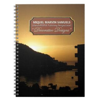 Sunset Decorative Nature Modern Notebook