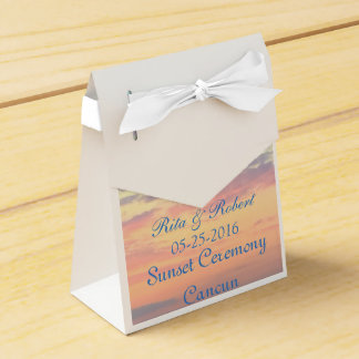 Sunset Destination Wedding Favor Box