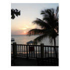 Sunset Doctor's Cave Beach Mo Bay Jamaica Postcard