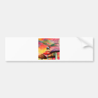 SUNSET DRAGON BUMPER STICKER