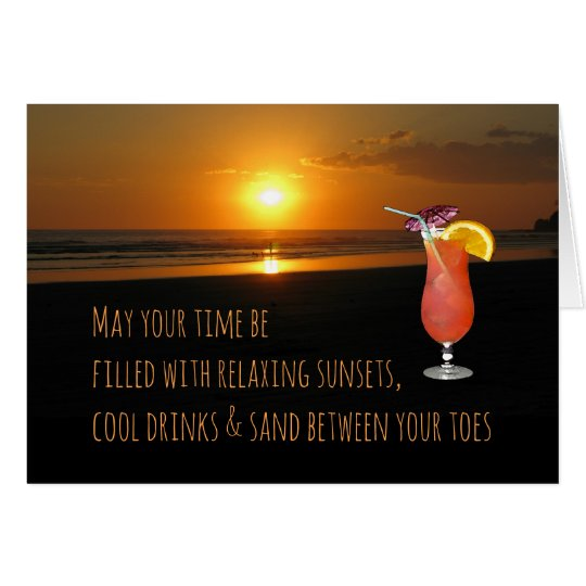 Sunset & Drink Card