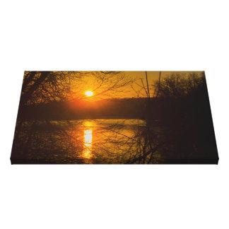 Sunset DWG Canvas Print