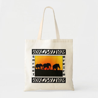 Sunset Elephant Safari tote bag