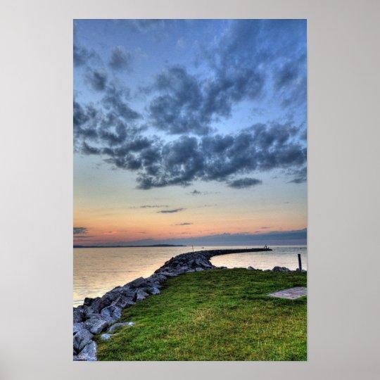 Sunset, Elk Rapids, Michigan Poster
