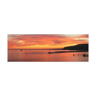 Sunset Est Canvas, Landscape of Almeria Gulf Impressions Sur Toile