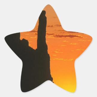 Sunset Evening Monument Navajo Star Sticker