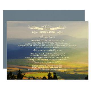 Sunset Evening Mountains Wedding Guest Information Card