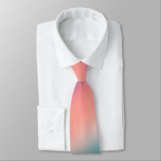 Sunset Fade Pastel Ombre Pink Teal Tie