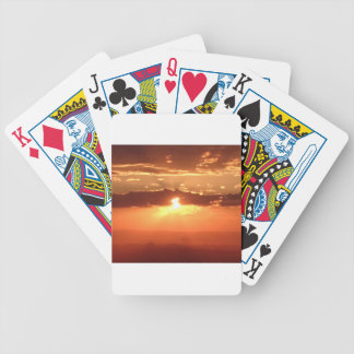 Sunset Fire Bicycle Playing Cards
