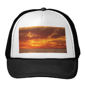 Sunset fire trucker hats