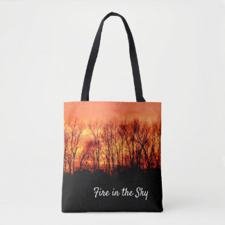 Sunset Fire in sky -- Tote Bag
