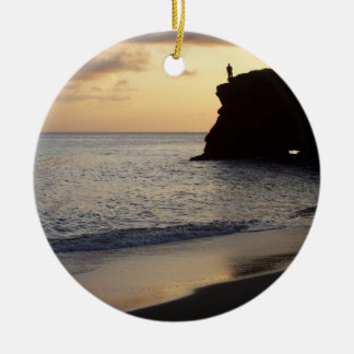 Sunset Fisherman Ornament