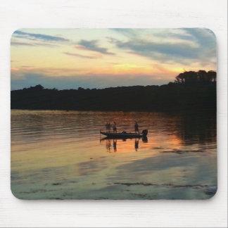 Sunset Fishing Mouse Pad