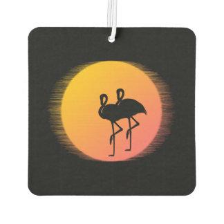 Sunset Flamingo Tranquility Car Air Freshener