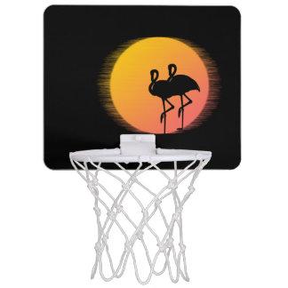 Sunset Flamingo Tranquility Mini Basketball Hoop