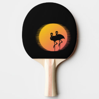 Sunset Flamingo Tranquility Ping Pong Paddle
