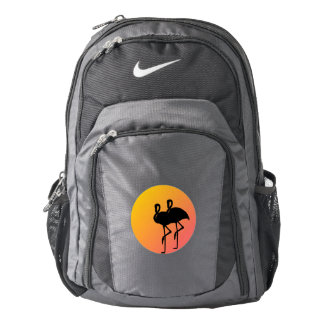 Sunset Flamingos Backpack