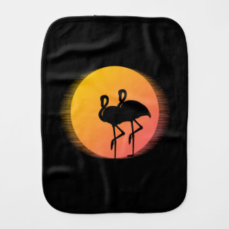 Sunset Flamingos Burp Cloth
