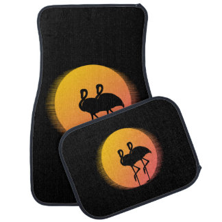 Sunset Flamingos Car Mat