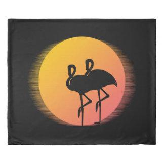 Sunset Flamingos Duvet Cover