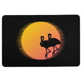 Sunset Flamingos Floor Mat
