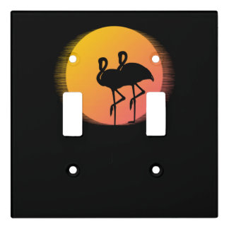 Sunset Flamingos Light Switch Cover